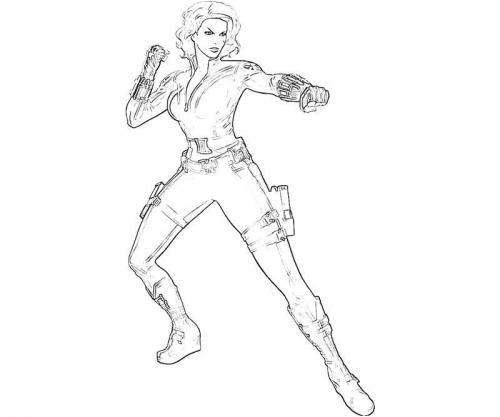 Vedova Nera immagini da stampare Avengers