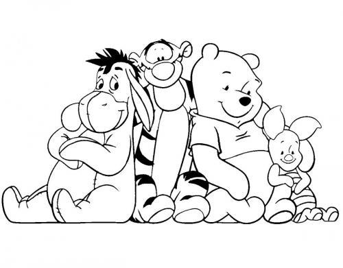 winnie the pooh da colorare gratis