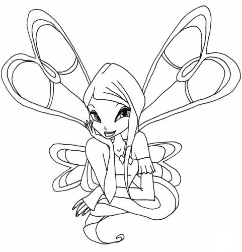 winx Roxy con le ali
